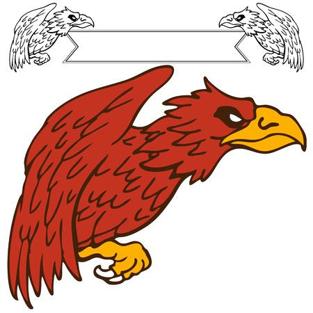 griffon: An image of a griffon bird drawing.