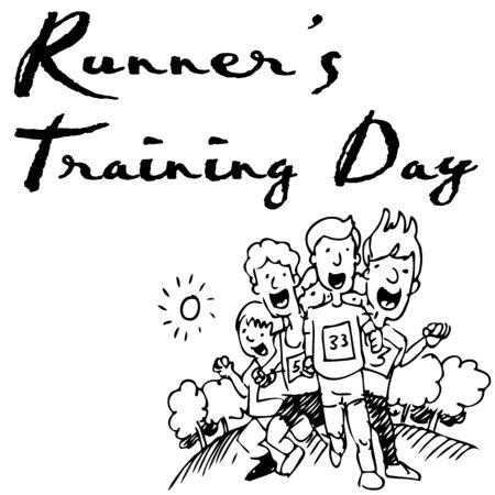 Obraz grupa biegaczy w wyÅ›cigu.