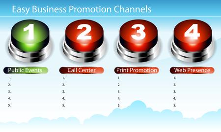 Ein Bild eines Diagramms einfach Business Promotion. Standard-Bild - 8903940