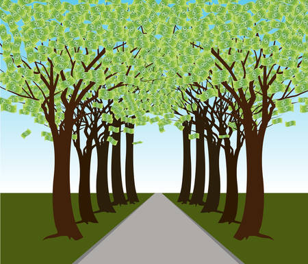 An image of a money tree forest Stock Vector - 8903949