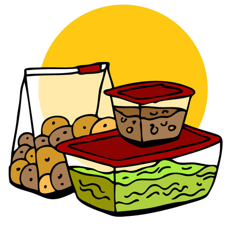 food: An image of a leftover food in containers.