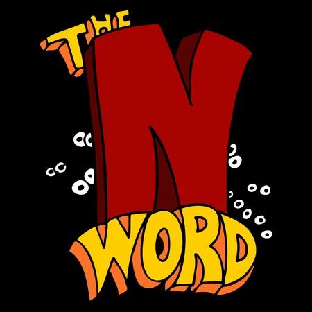 taboo: An image of a taboo N word.