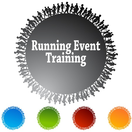 An image of a running event training circle icon. Stock Vector - 9244967