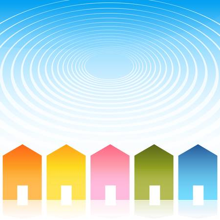 ripple effect: An image of a housing ripple effect background.