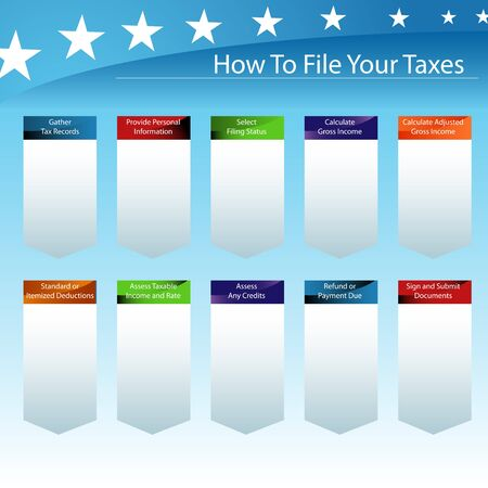 An image of a guide to filing your taxes with the government. Stock Vector - 9355460