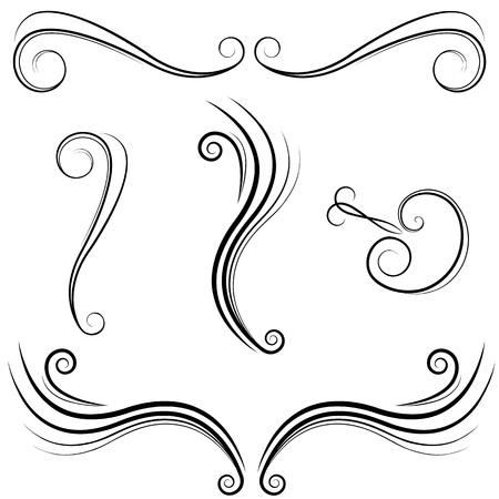 flourish: An image of a elegant swirl design elements.