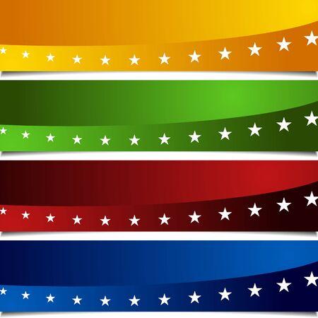 페이지 껍질 애국적인 배너의 이미지