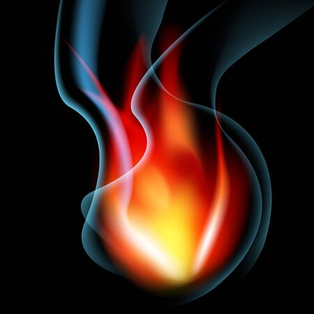 flame: An image of a smoking flame background. Illustration
