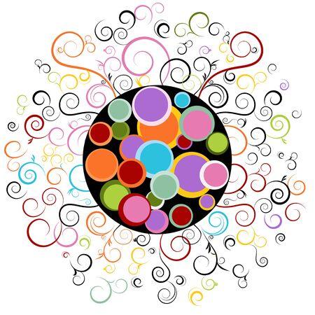 抽象的な渦巻の設計要素のイメージ。