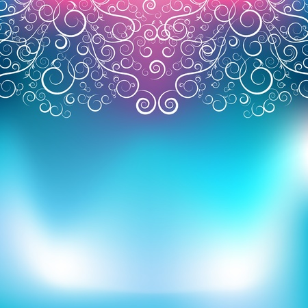 An image of an abstract blue pink swirl background. Vector