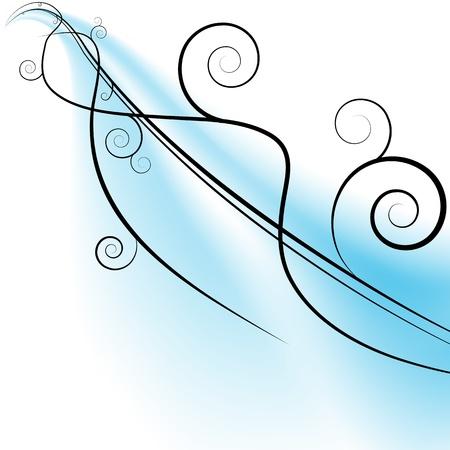 streak: An image of a flowing swirls on a blue streak.