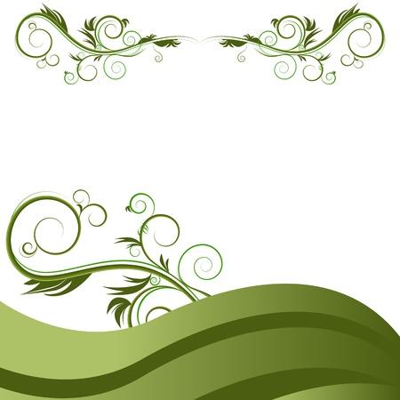 녹색 물결 포도 나무의 이미지 번성 배경.