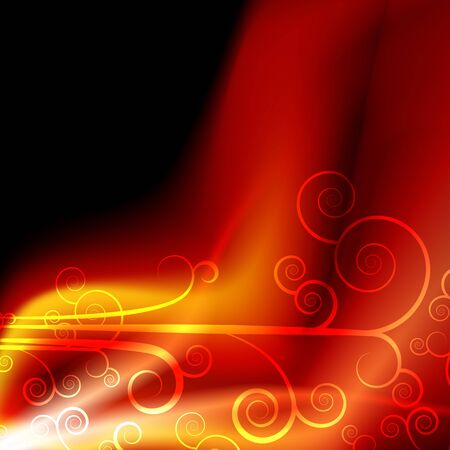 An image of a plasma energy flame background. Stock Vector - 9487872