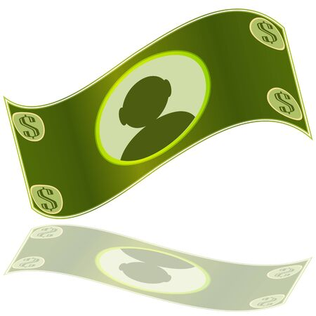 An image of a dollar sign money bill. Illustration