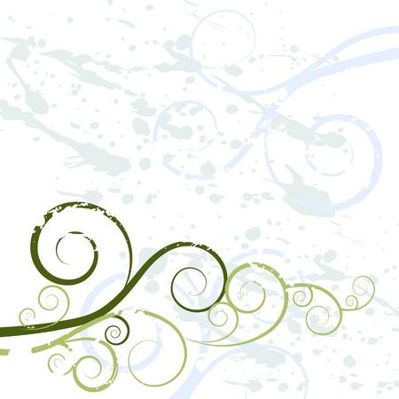 Een beeld van een grungewervelingstextuur als achtergrond. Vector Illustratie