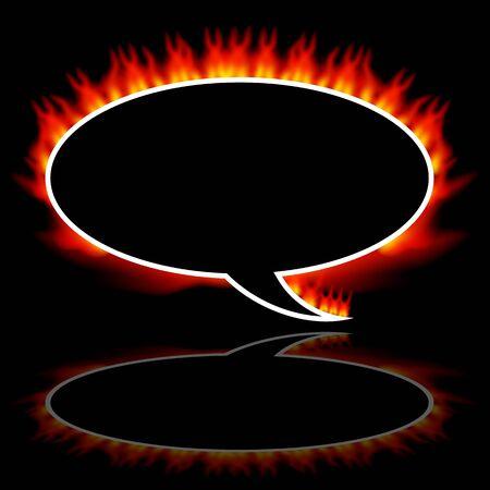 An image of a fire communication speech balloon. Stock Vector - 9487886