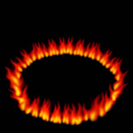 fire ring: Una imagen de un anillo de fuego sobre un fondo negro.