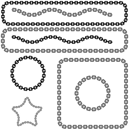 An image of a chan link design element set.