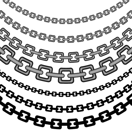 An image of a set of curved chain patterns. Banco de Imagens - 9518142