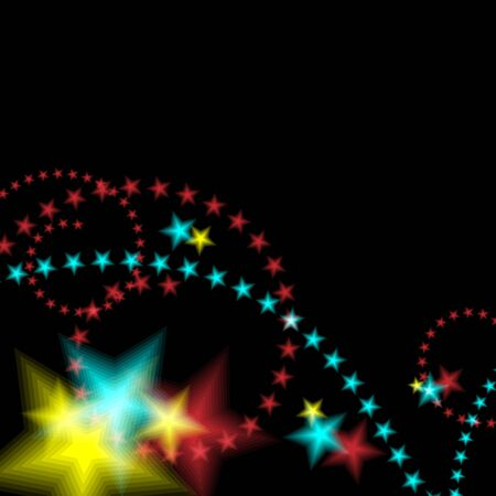 An image of a glowing star fireworks background. 向量圖像