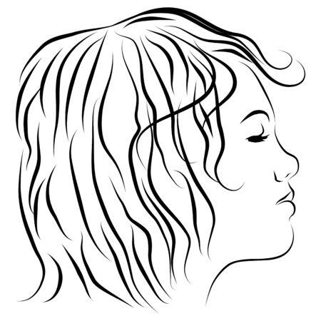 Ein Bild einer Satelliten-Gericht-Line-Zeichnung. Standard-Bild - 9538451