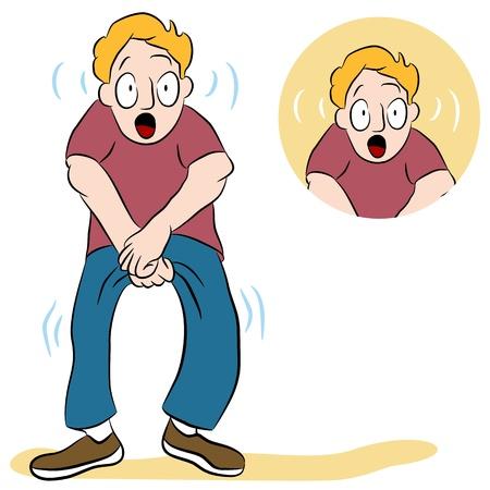 弱い膀胱を持つ男のイメージ。 写真素材 - 9582961