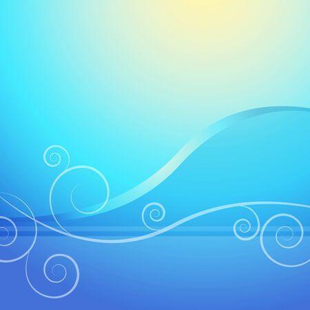 Een beeld van een abstracte blauwe swirl zonsopgang achtergrond.