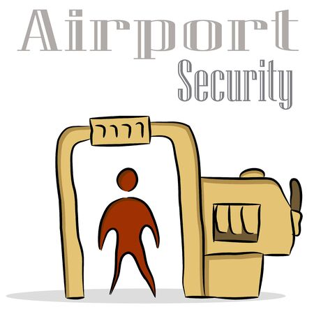 An image of an airport security drawing. Stock Vector - 9673041