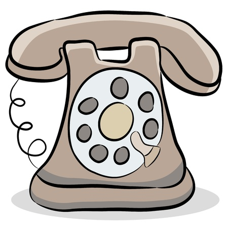 An image of a old fashioned telephone. Stock Vector - 9673044