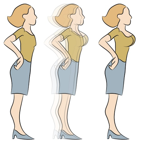 An image of a female enlargement transformation.