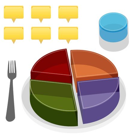 An image of a food plate guide. Vector