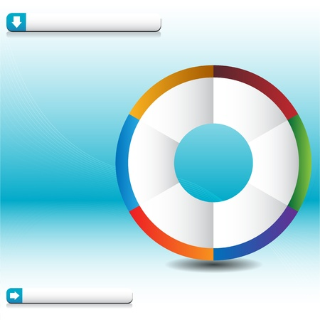 An image of a process wheel wave chart. Stock Vector - 9673090