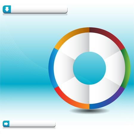 Una imagen de un gráfico de onda de rueda de proceso. Foto de archivo - 9673090