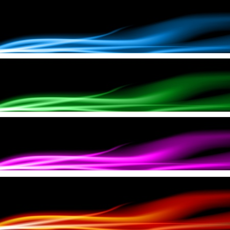 An image of a plasma energy banner set. Stock Vector - 9673097