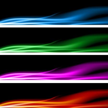 resplandor: Una imagen de un conjunto de banner de energ�a de plasma. Vectores