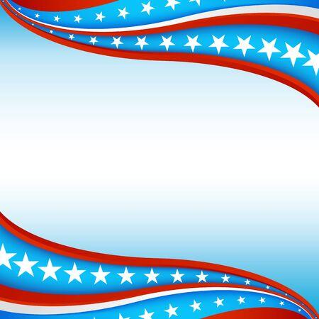 애국 스타 배너 배경 이미지입니다. 일러스트