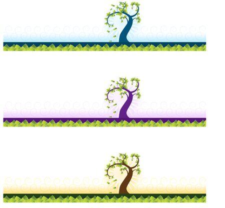 Una imagen de un conjunto de banner de árbol de dinero. Foto de archivo - 9673050