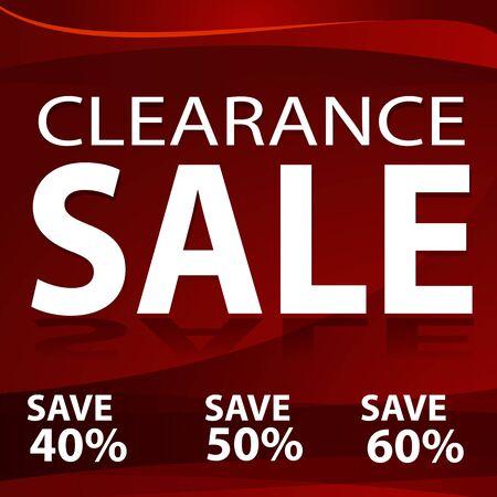 クリアランス セールの赤い背景の画像。  イラスト・ベクター素材