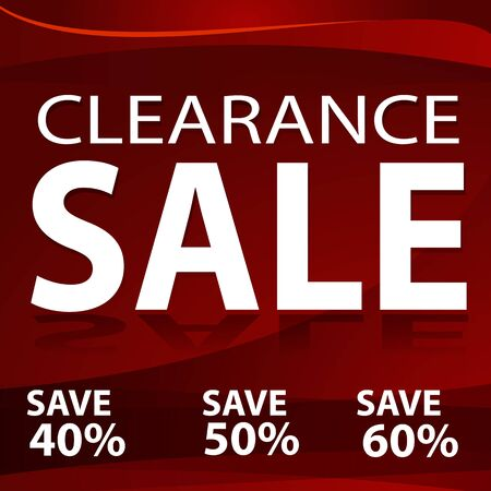 clearance sale: An image of a red clearance sale background.