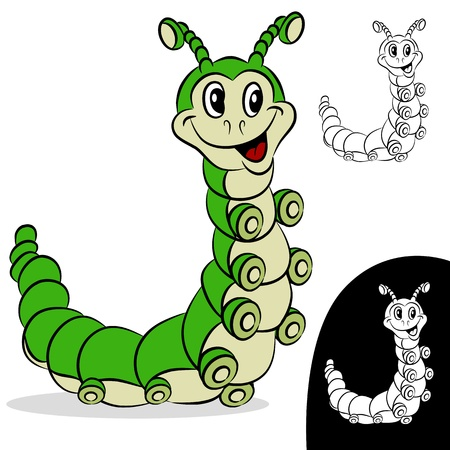 An image of a caterpillar cartoon character. Stock Vector - 9721406