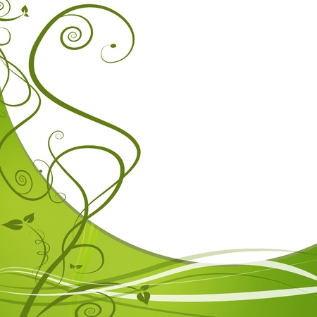An image of a green vine leaf abstract background. 向量圖像