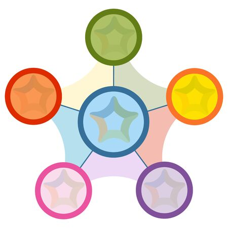 An image of a star shaped business chart. Vectores