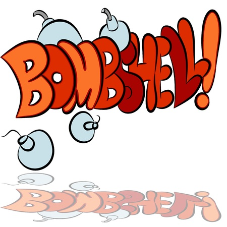 bombshell: An image of a bombshell bomb sound effect text.