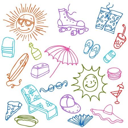 An image of a summer beach items. Stock Vector - 10171036