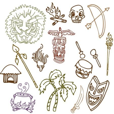 原始的な部族オブジェクトの画像。