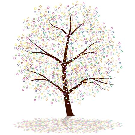 round: An image of a dot tree.