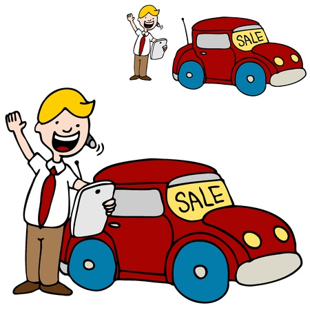 An image of a car salesman usinghis digital tablet device. Stock fotó - 10713127