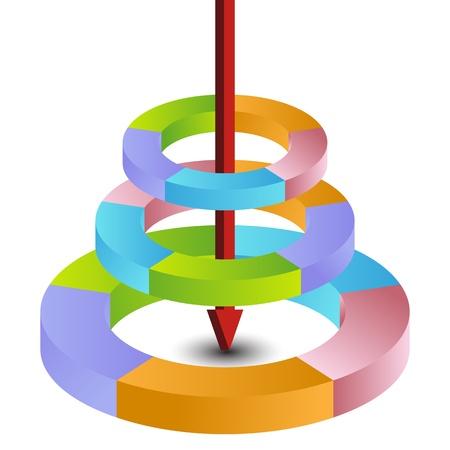 Een beeld van een grafiek met meerdere workflow processen.
