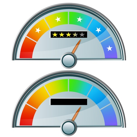 An image of a five star rating gauge. Stock Vector - 11012179