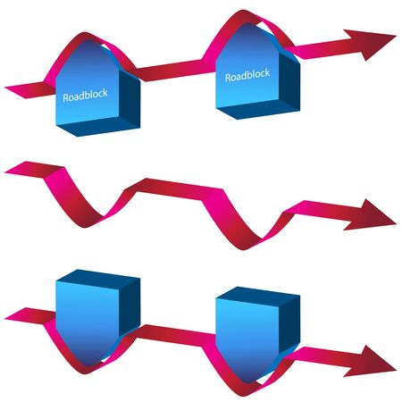An image of a navigating roadblocks chart. Stock Vector - 11012182